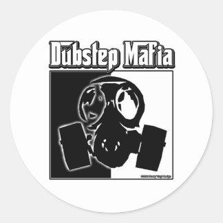 DUBSTEP Mafia-Tollpatsch-Schrittmusik Dubstep Runder Aufkleber