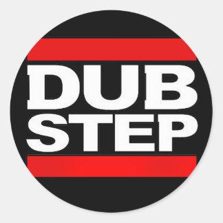 dubstep mischen-benga-dubstep Radio-freien Dubstep Runder Sticker