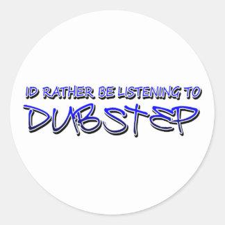 Dubstep mischen Dubstep Musikdownload dubstep wied Runde Sticker