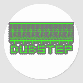 DUBSTEP Musik Runder Aufkleber