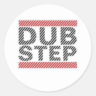 Dubstep Musik Runde Sticker