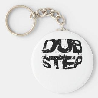 Dubstep Musik-Text Standard Runder Schlüsselanhänger
