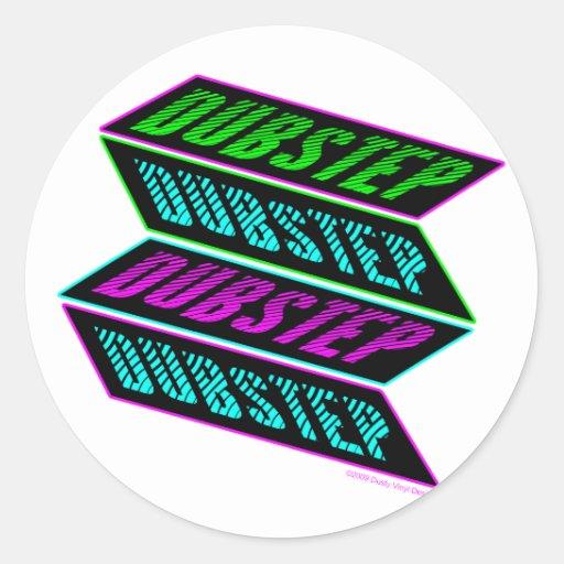 DUBSTEP Neon Runder Sticker