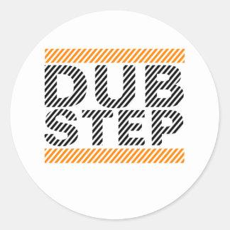 Dubstep Orange Runder Sticker
