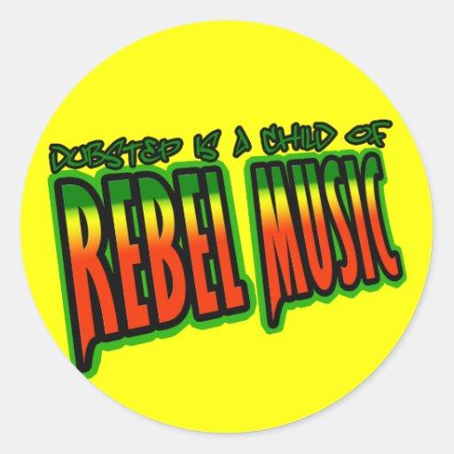 Dubstep Rebellenmusik Runde Sticker