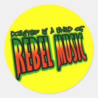 Dubstep Rebellenmusik Runder Aufkleber