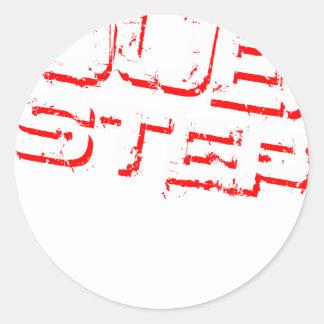 Dubstep Rot Runde Sticker