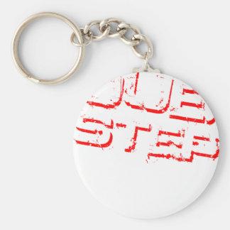 Dubstep Rot Standard Runder Schlüsselanhänger