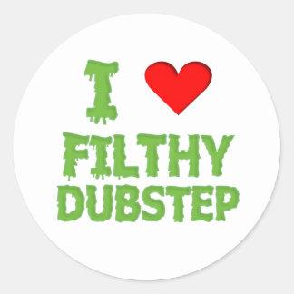 Dubstep schmutziger Tollpatschschritt Bass-techno  Sticker