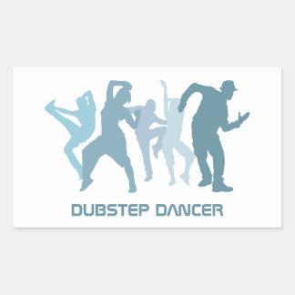 Dubstep Tänzer-Illustration Rechteckiger Aufkleber