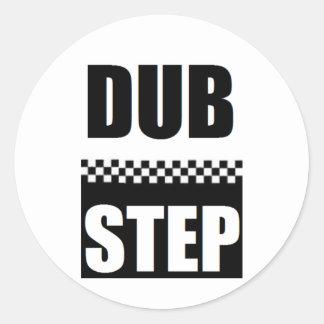 dubstep tee3 runde sticker