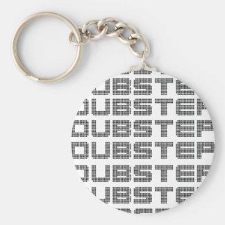 Dubstep Text Standard Runder Schlüsselanhänger