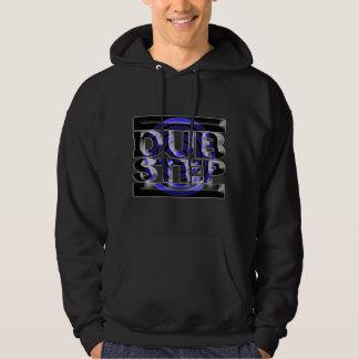 DUBSTEP Tollpatschschrittt-shirt blaues Drehbeschl Kapuzensweater