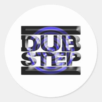 DUBSTEP Tollpatschschrittt-shirt blaues Runder Aufkleber