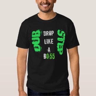 Dubstep Tropfen mögen ein Cheft-shirt Hemd