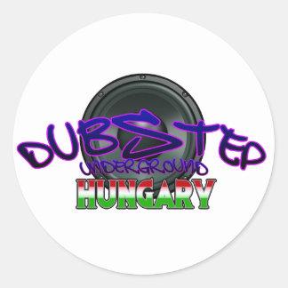 Dubstep Ungarn Budapest DUBSTEP ungarisches Runder Aufkleber