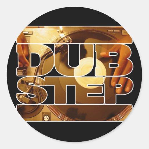 DUBSTEP Vinyldubplates Musiktolpatsch-Schrittdownl Runder Aufkleber