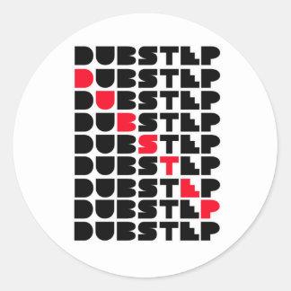 Dubstep WAND-Mädchen-Typen Dubstep Musik Runde Sticker