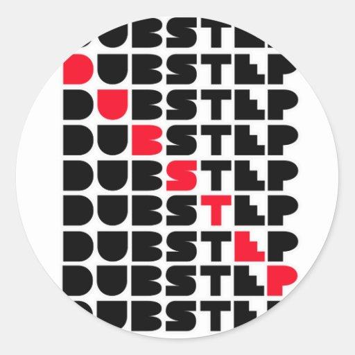 Dubstep WAND-Mädchen-Typen Dubstep Musik Runder Sticker