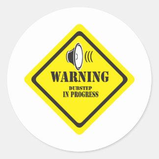 Dubstep Warnung Runder Sticker