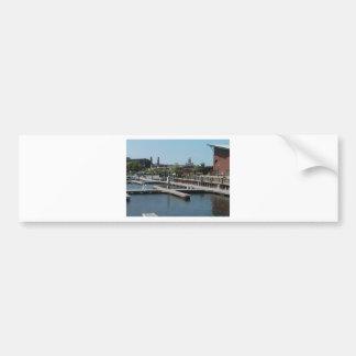 Dubuque, Iowa-Eis-Hafen, Fluss Mississipi Autoaufkleber
