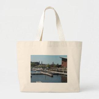 Dubuque, Iowa-Eis-Hafen, Fluss Mississipi Jumbo Stoffbeutel