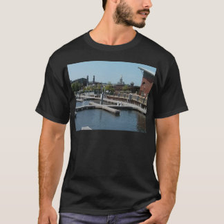 Dubuque, Iowa-Eis-Hafen, Fluss Mississipi T-Shirt
