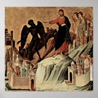 Duccio di Buoninsegna - Versuchung von Christus Poster