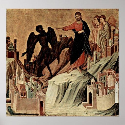 Duccio di Buoninsegna - Versuchung von Christus Plakat