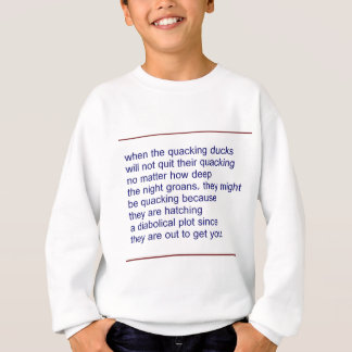 duckt quacking Gedicht Sweatshirt