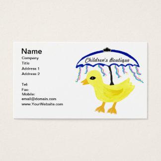 Ducky Baby-Regenschirm-Visitenkarte-Gummisatz Visitenkarte