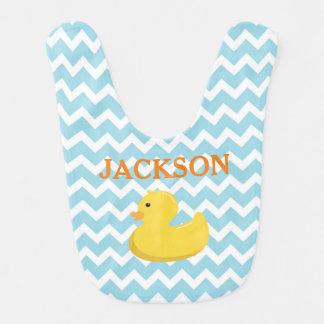 Ducky Babyparty-Geschenk-Gummischellfisch Lätzchen