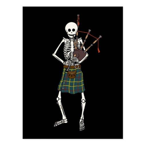 Dudelsackspieler-Skelett Postkarte