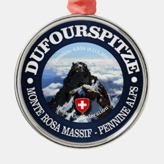 Dufourspitze Silbernes Ornament