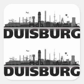 Duisburg Stadt Skyline - Geschenkideen Aufkleber