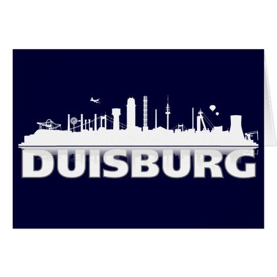 Duisburg Stadt Skyline - Grußkarte / Klappkarte