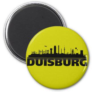 Duisburg Stadt Skyline - Magnet /Kühlschrankmagnet Runder Magnet 5,7 Cm