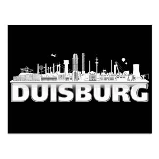 Duisburg Stadt Skyline - Postkarte