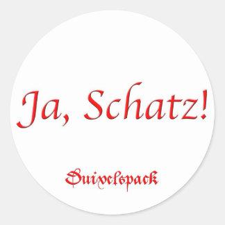 Duivelspack - Aufkleber Ja Schatz
