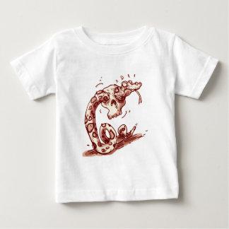 dumme Schlange, die versucht, in den Schädel durch Baby T-shirt