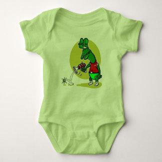 dummer alientrieb-Single-Elektron-Cartoon Baby Strampler