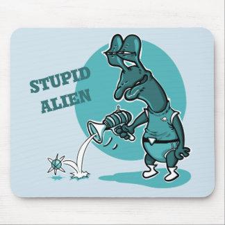 dummer alientrieb-Single-Elektron-Cartoon Mousepad