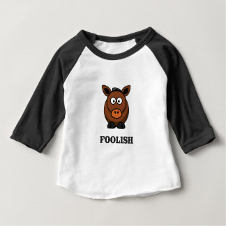 dummer Esel Baby T-shirt