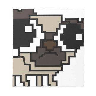 dummer Pixel-Mops Notizblock