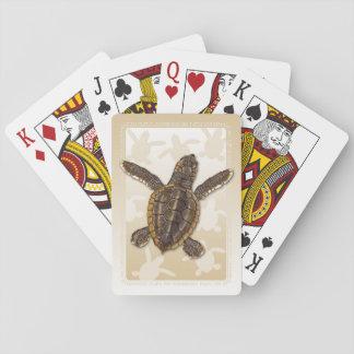 Dummkopf-Meeresschildkrötehatchlings-Spielkarten Spielkarten