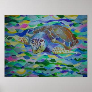 Dummkopf-Schildkröte Poster