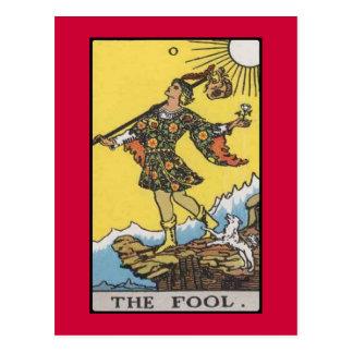 Dummkopf-Tarot-Dualkartenverarbeitung Postkarte