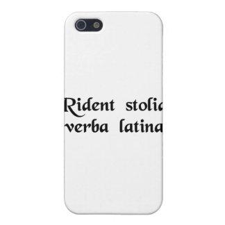 Dummkopflachen an der lateinischen Sprache iPhone 5 Schutzhüllen