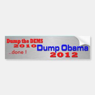 Dump Obama 2012 Autoaufkleber