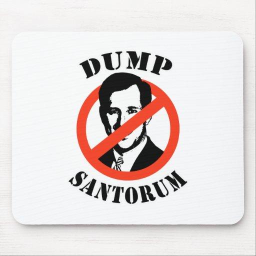 Dump Santorum Mousepads